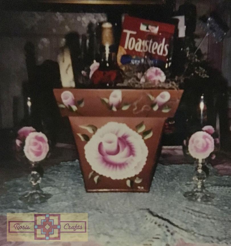 Rosie Crafts Wine Glass Gift Basket Set