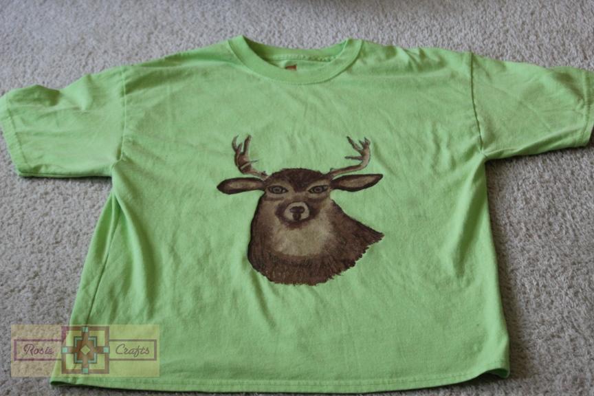 Rosie Crafts Painted Wildlife Deer Shirt