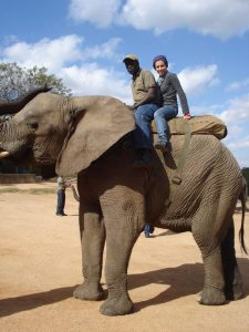 Luisa at Kruger National Park, South Africa as part of a veterinary study trip in 2013.
