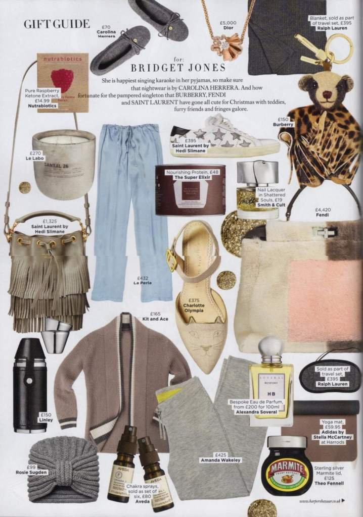 ROSIE SUGDEN/ HARPER'S BAZAAR/GIFT GUIDE/2015/DECEMBER ISSUE