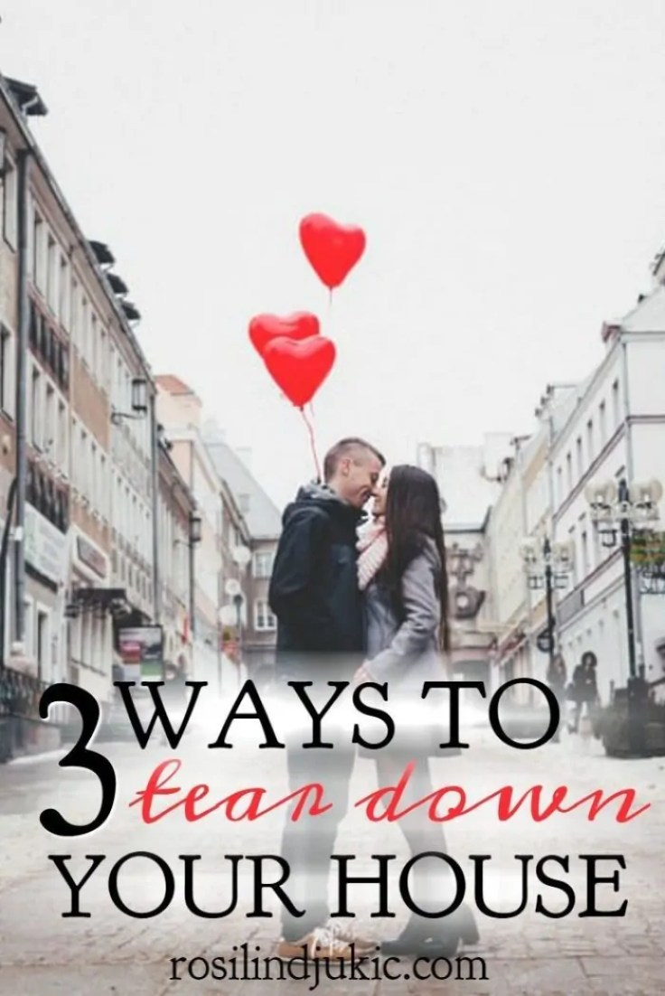 I really needed to read this today! Wow! There are 3 ways we tear our house down and her marriage. If you want a strong marriage, be sure not to do these 3 things.
