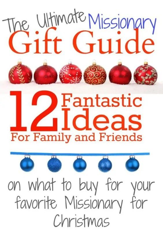 Surprise a missionary this Christmas with a fun, creative, and meaningful gift. Here is the Ultimate Missionary Gift Guide written by a missionary!