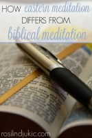 Do you know the difference between Eastern meditation and biblical meditation? Biblical meditation is a vital Christian discipline that we should all engage in every single day.