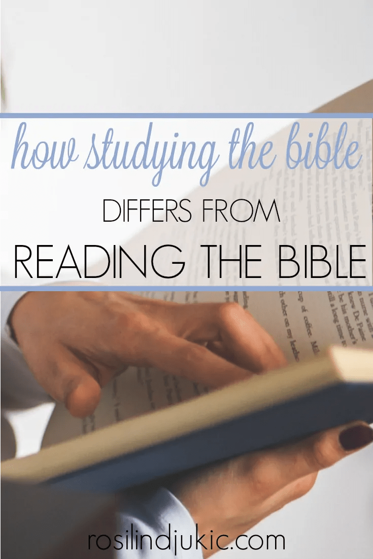Studying the Bible is not the same as reading the Bible. Here is the difference, plus 4 fun ways you can effectively study your Bible!