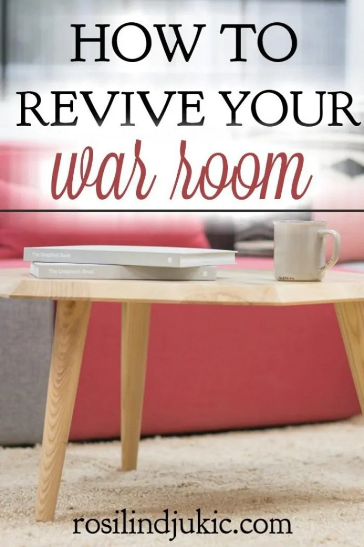 If your war room is neglected or become a more of a hobby than a place to strategize against the enemy, here are 5 ways to revive it and make it effective.