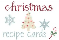 Christmas Recipe Cards – Free Download