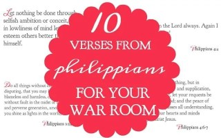 10 Verses from Philippians For Your War Room