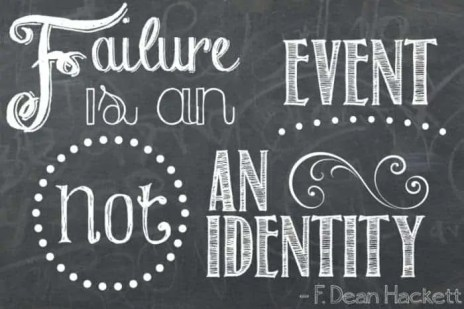 Download this inspirational quote to remind yourself that failure is an event, not something that defines who you are.