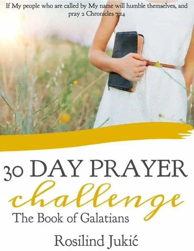 Read through the entire book of Galatians in 30 days with this 30 Day Prayer Challenge for Galatians and learn how to walk in the Spirit and liberty!