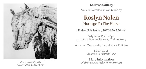 Homage To The Horse Solo Exhibition 2017