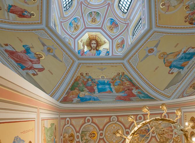 роспись храма алтарь четверик купол