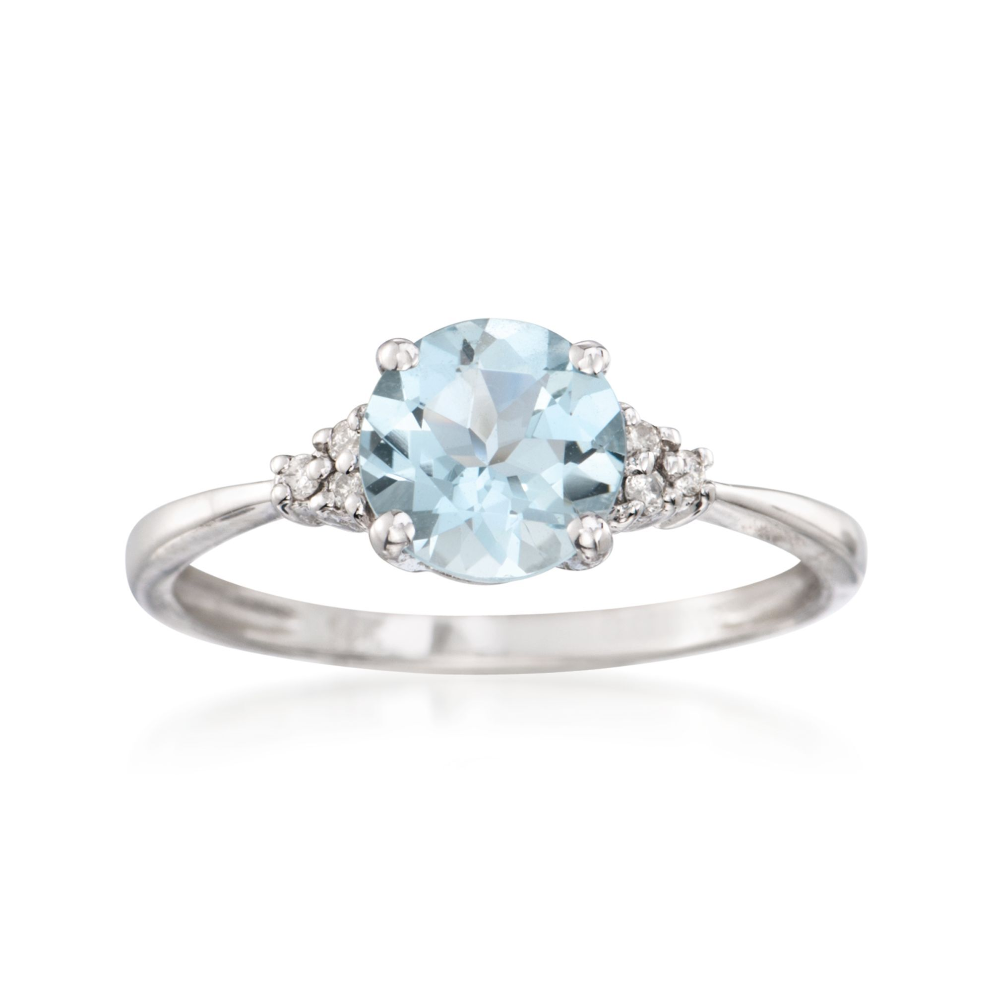 100 Carat Aquamarine Ring With Diamonds In 14kt White Gold