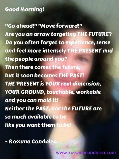present past future rossana condoleo