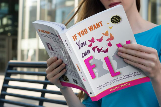 Single mom reading If You Want You Can Fly by Rossana Condoleo