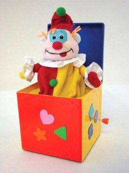 A toy jack-in-the-box