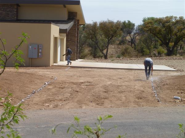 Outlining the driveway 2