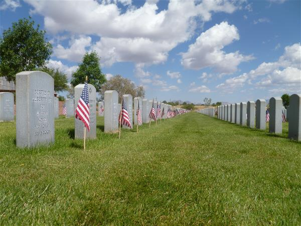 Headstones, Southern Arizona Veterans Memorial Cemetery