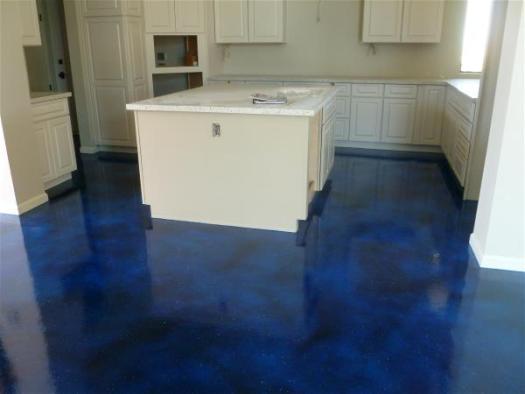 Finished kitchen floor