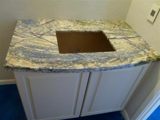 Powder bath counter top