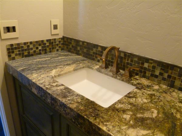 Guest bath counter and back splash