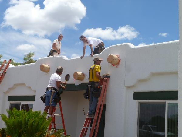 Mounting the new vigas