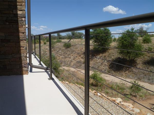 South patio cable railing