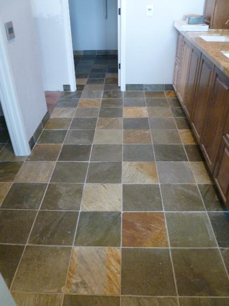 Master bath slate post-sealer