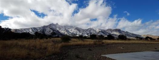 Christmas day Huachuca Mountains panorama