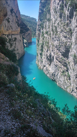 kayak in a deep gorge