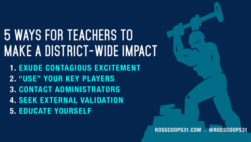 5 Ways For Teachers to Make a District-Wide Impact
