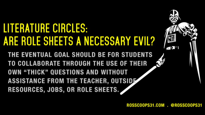Literature Circles - Are Role Sheets a Necessary Evil?