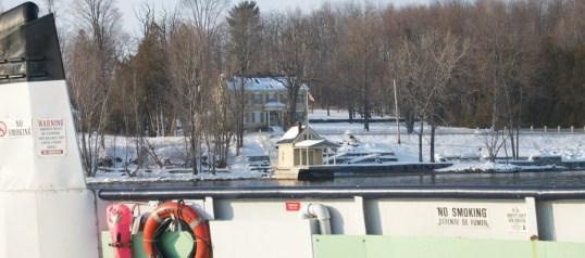 Photo of Rosslyn taken from ferry last winter. (Credit: Tanya)