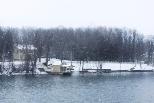 Snow Falling on Cedar Shingles