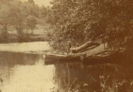 Butternut Flats on the Boquet River (Source: detail from vintage postcard)