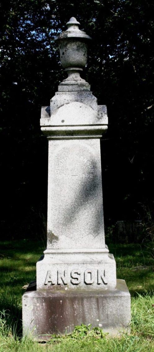 George D. Anson grave in Essex, NY (Source: Karen Kelly via findagrave.com)