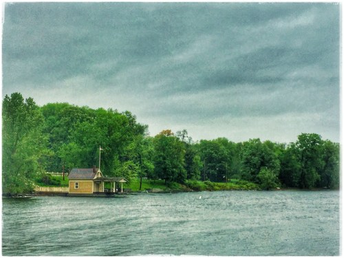 Vintage boathouse postcard? Or not? (Source: Geo Davis)