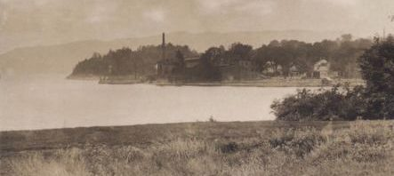 Industrial Waterfront, Essex on Lake Champlain, circa 1910 (detail from vintage postcard)