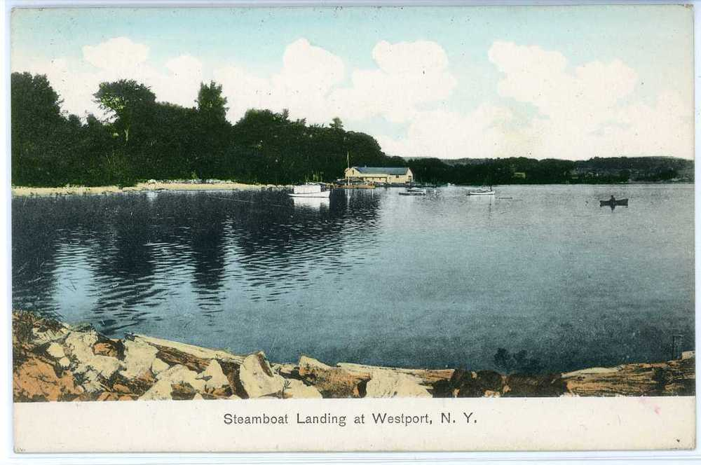 Steamboat Landing at Westport, NY circa 1907 (Source: Rosslyn Redux)