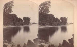 Vintage stereoview of Blood's Bay in Essex, NY