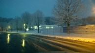 Das Deggendorfer Eisstadion in der Früh