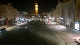 Blick vom Alten Rathaus auf den Luitploldplatz