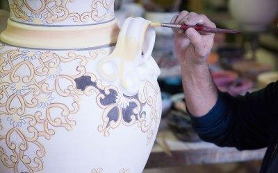vasi ceramica di vietri avossa dipinti a mano rossoaltramonto