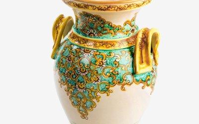 RPMBR002 portaombrelli ceramica vietri manici santa chiara verde avossa rossoaltramonto