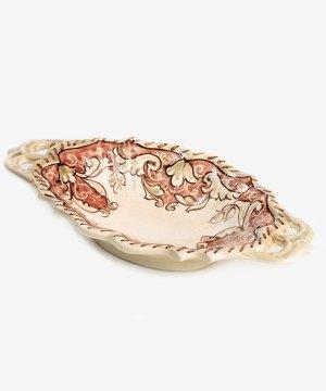 RSVTS002 svuotatasche ceramica vietri siria romantica avossa rossoaltramonto