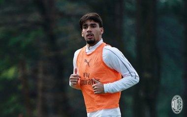 Lucas Paquetá during training at Milanello. (@acmilan.com)