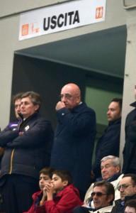 Galliani con la Fiorentina
