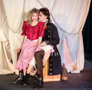 L-R - Amber Collins Crane as Moll Flanders, Jack Clendenen as Christopher
