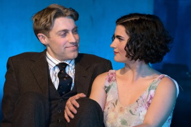 L to R Frankie Stornaiuolo as Scott Fitzgerald, Emily Dwyer as Zelda Fitzgerald