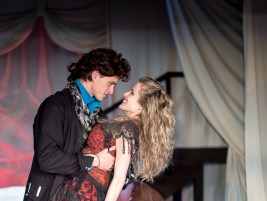 L-R - Jack Clendenen as Christopher, Amber Collins Crane as Moll Flanders