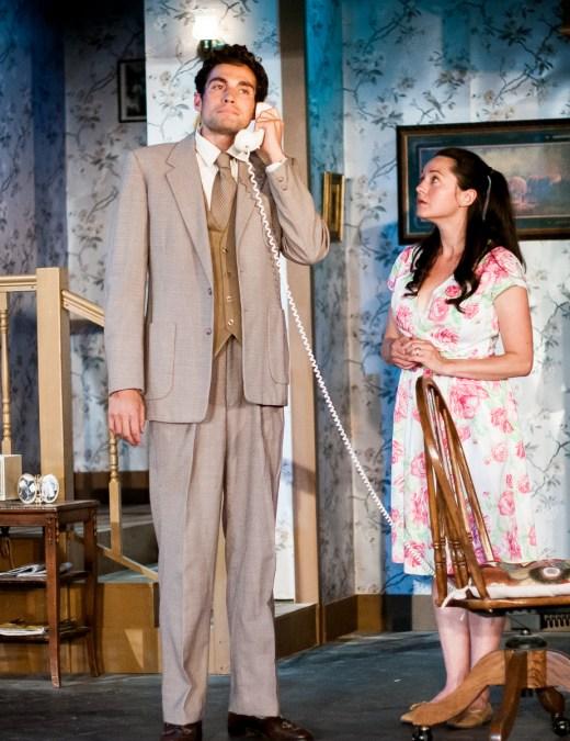 L-R, Jeremy Judge as Barnette Lloyd; Margaret Grace Hee as Babe Botrelle